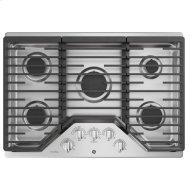 "30"" Built-In Gas Cooktop with 5 Burners and Optional Extra-Large Cast Iron Griddle"