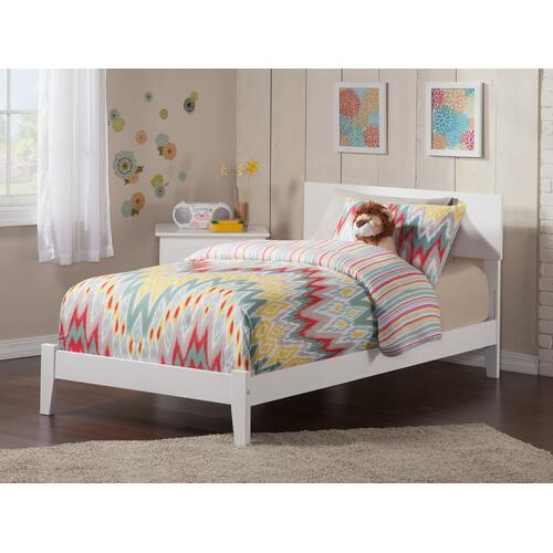 Orlando Twin Bed in White