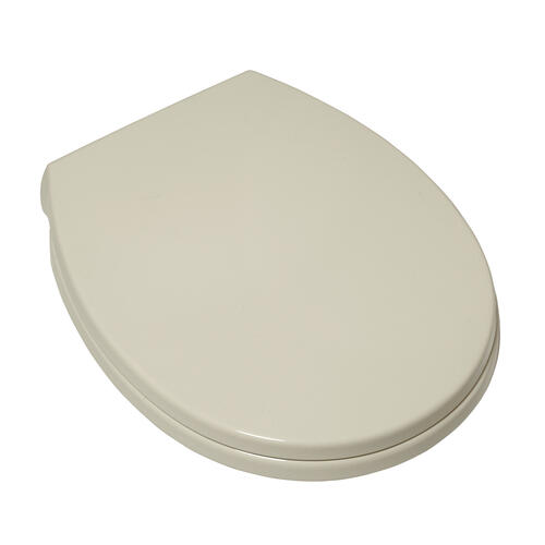 Value Pack of Five: Luxury Toilet Round Front Toilet Seats with Slow-Close and Push Button Lift Off - Linen
