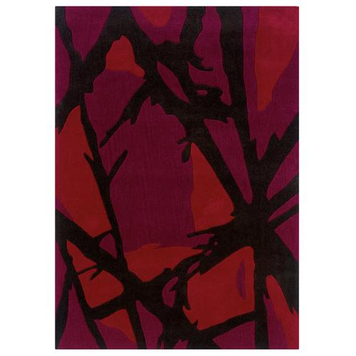 Trio D350 Branches Red 5ftx7ft