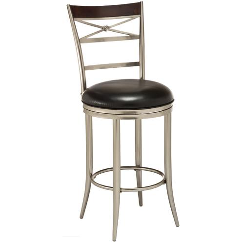 Kilgore Swivel Bar Height Stool - Matte Nickel