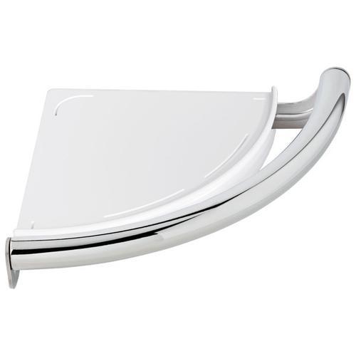 Product Image - Chrome Contemporary Corner Shelf with Assist Bar