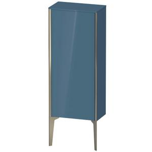 Semi-tall Cabinet Floorstanding, Stone Blue High Gloss (lacquer)