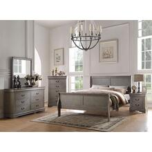 LOUIS PHILIPPE GRAY QUEEN BED