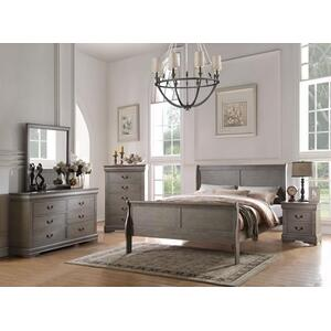 LOUIS PHILIPPE GRAY QUEEN BED