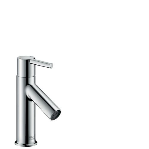 Brushed Brass Single lever basin mixer 80 with lever handle for hand washbasins with pop-up waste set
