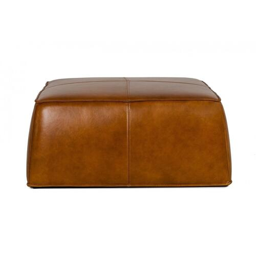VIG Furniture - Divani Casa April - Modern Camel Leather Square Ottoman