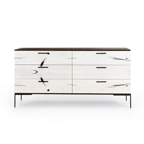 Bleached Yukas Finish Cuzco 6 Drawer Dresser