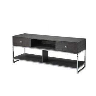 ACME Iban - TV Stand - 91204 - Gray Oak & Chrome