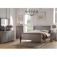 Louis Philippe Gray Queen 4pc Bedroom Set
