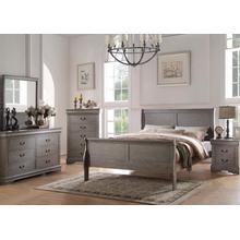 Louis Philippe Gray King 4pc Bedroom Set