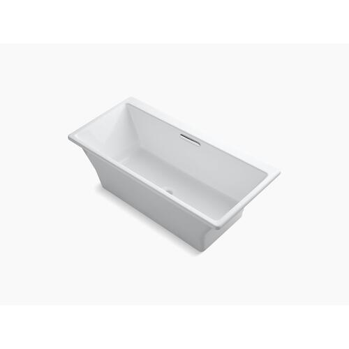 "White 67"" X 32"" Freestanding Bath With Brilliant Blanc Base"