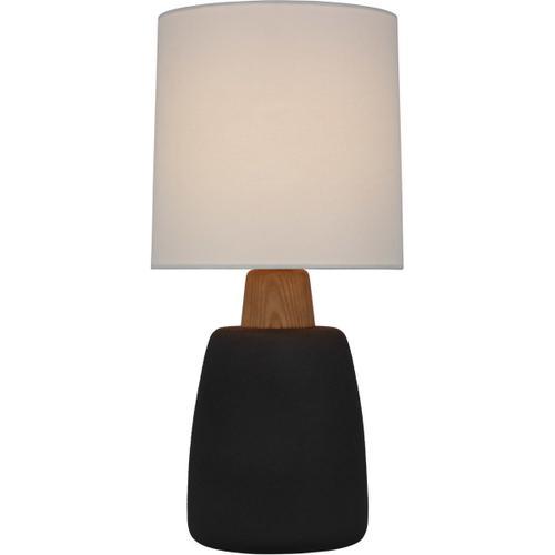 Barbara Barry Aida 21 inch 15.00 watt Porous Black and Natural Oak Table Lamp Portable Light, Medium