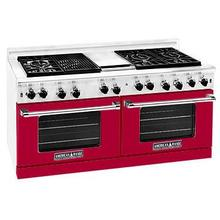"""View Product - Professional 60"""" Residential Range Red Color"""