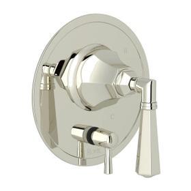 Palladian Pressure Balance Trim with Diverter - Polished Nickel with Metal Lever Handle