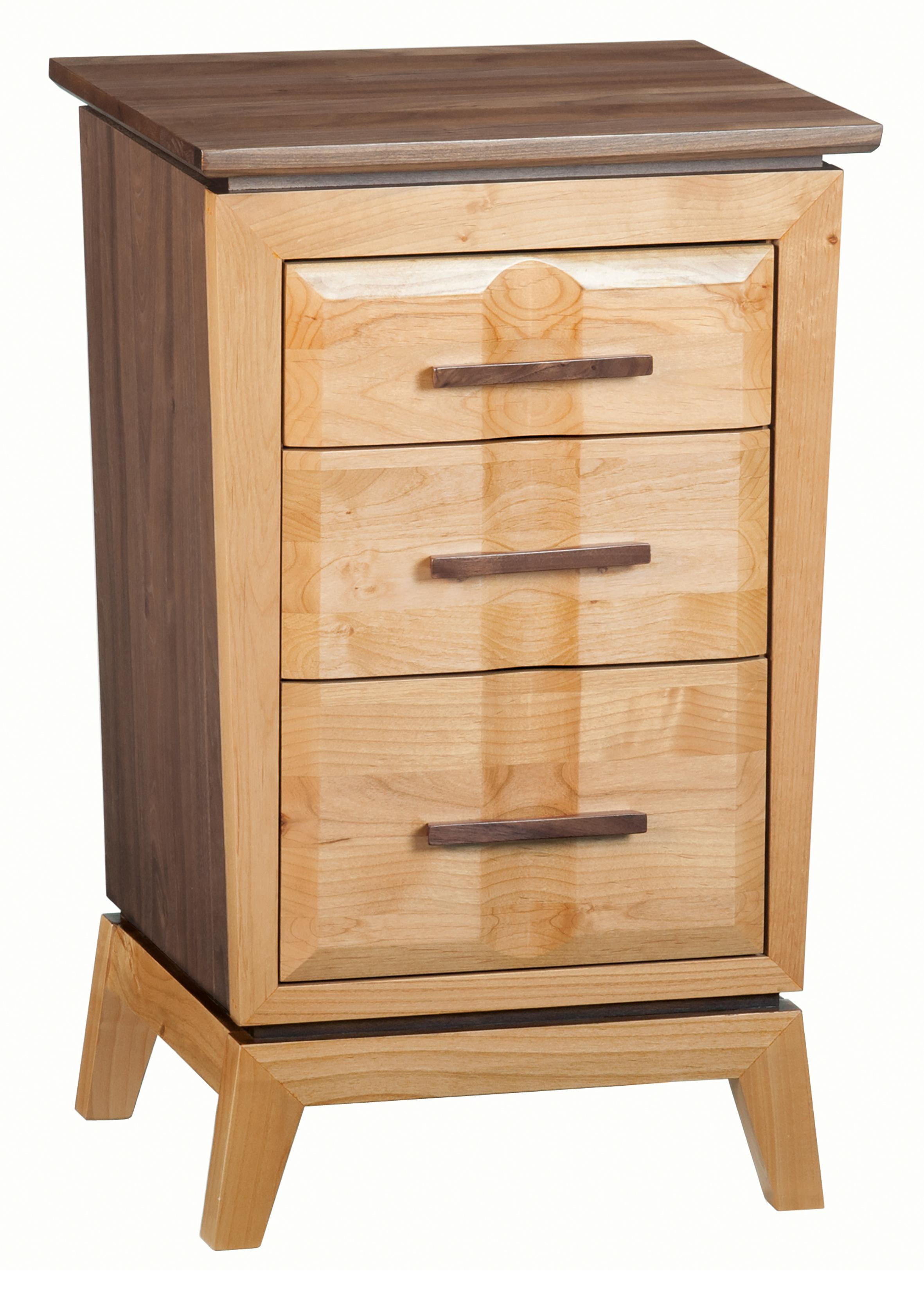 Whittier WoodDuet Small 3-Drawer Addison Nightstand