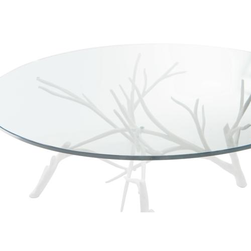 Marnie Cocktail Table in Chalky White