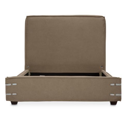 Cal King Upholstered Bed Khaki (2 Pc)