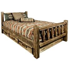 Homestead Collection Beds with Storage, Stain and Lacquer Finish
