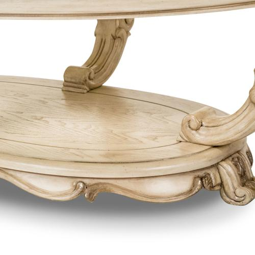 Platine De Royale Oval Cocktail Table Champagne