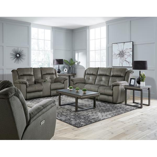 See Details - Double Reclining Power Headrest Loveseat with Console