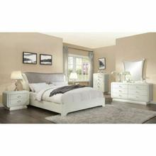 ACME Bellagio Eastern King Bed - 20387EK - PU & Ivory High Gloss