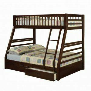 ACME Jason Twin/Full Bunk Bed & Drawers - 02020 - Espresso
