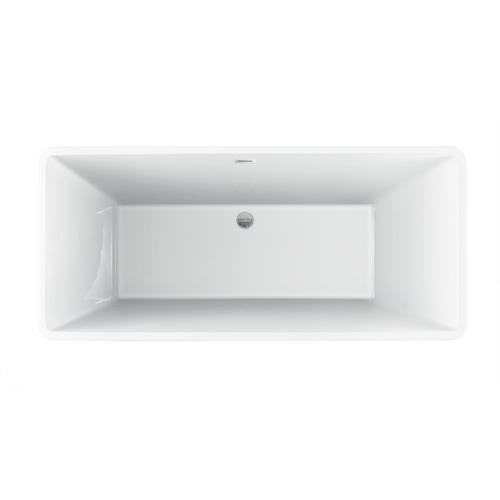 """Product Image - Siren 64"""" Acrylic Tub with Integral Drain and Overflow - Oil Rubbed Bronze Drain and Overflow"""