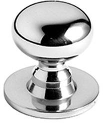 "Non Lacquered Brass Cupboard knob, 1 1/4"" diameter"