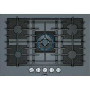 BoschBENCHMARK SERIESBenchmark® Gas Cooktop 30'' Tempered glass, dark silver NGMP077UC