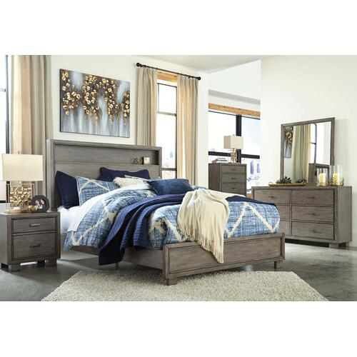 6 Piece Set (3 Piece Full Bed, Dresser, Mirror and Nightstand)
