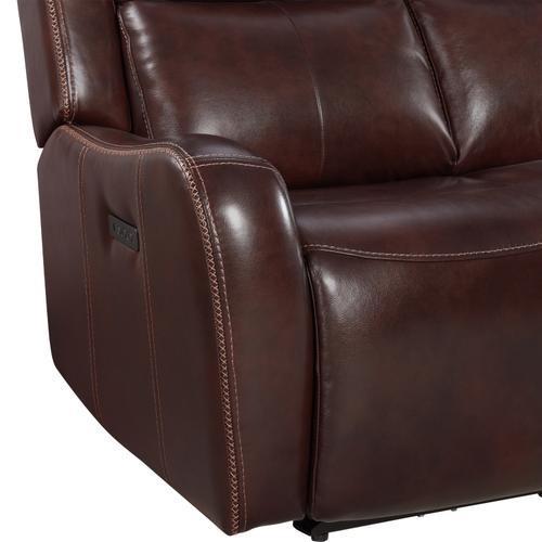 Product Image - Wainwright Dual-Power Loveseat  Reddish Brown