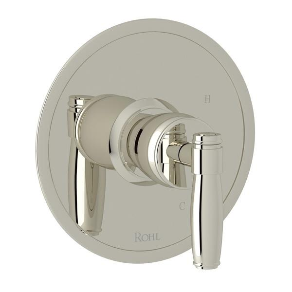 Polished Nickel Zephyr Pressure Balance Trim Without Diverter with Metal Lever Zephyr Series Only