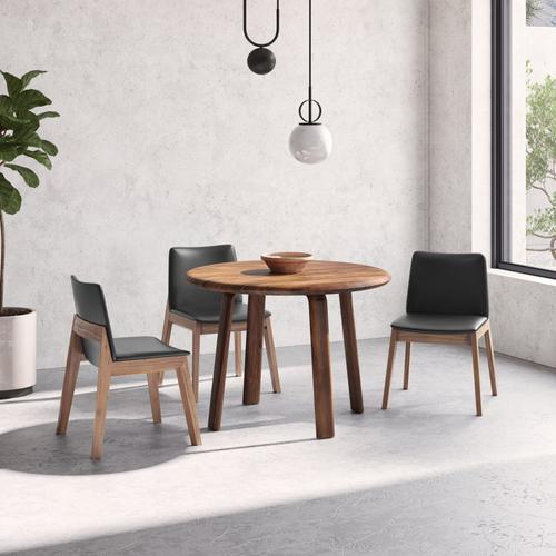 Moe's Home Collection - Deco Dining Chair Black Pvc-m2