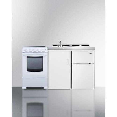 """View Product - 60"""" Wide All-in-one Kitchenette With Electric Range"""