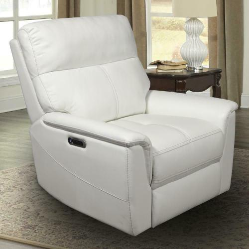 Parker House - REED - PURE WHITE Power Recliner