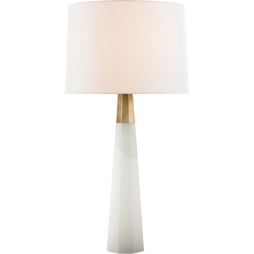 AERIN Olsen 33 inch 60 watt Alabaster Table Lamp Portable Light