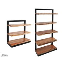 See Details - Nature's Edge 3 Shelf Bookcase-natural