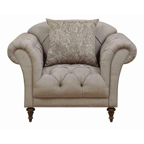 Alasdair Traditional Light Brown Arm Chair