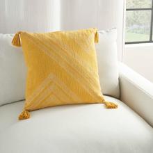 """Kathy Ireland Pillow Aa443 Yellow 20"""" X 20"""" Throw Pillow"""