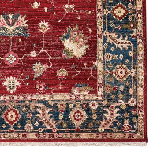 Landis-Keshan Crimson Navy Machine Woven Rugs