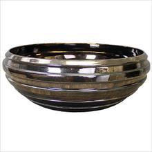 Handmade Porcelain Stripe Bowl