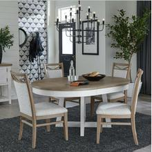See Details - AMERICANA MODERN DINING Dining Table 48 in. Round to 66 in. (18 in. Leaf)