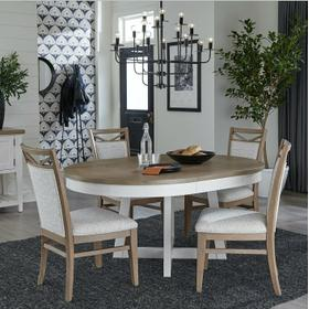 AMERICANA MODERN DINING Dining Table 48 in. Round to 66 in. (18 in. Leaf)