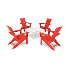 View Product - Quattro 5-Piece Conversation Set in Sunset Red