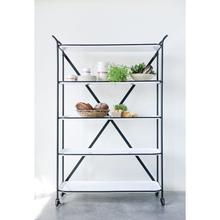 "Product Image - 45-3/4""L x 15-3/4""W x 66""H Metal 5-Tier Shelf, Enamel White Finish w/ Black Rim"