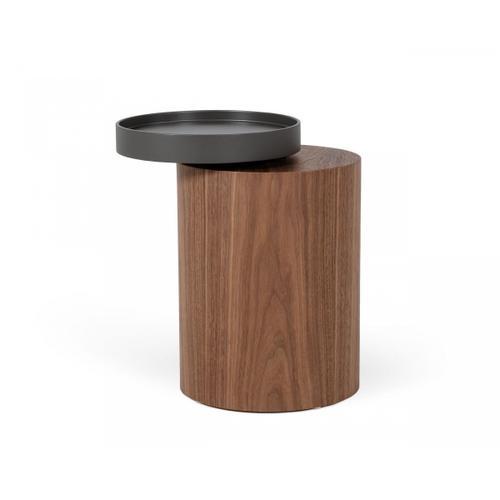 VIG Furniture - Modrest Bascom- Modern Grey and Walnut End Table