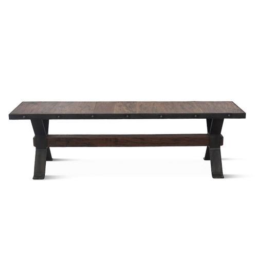 "Industrial Teak 60"" Reclaimed Wood Bench"