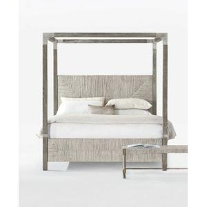 Bernhardt Interiors - King-Sized Palma Canopy Bed in Rustic Gray
