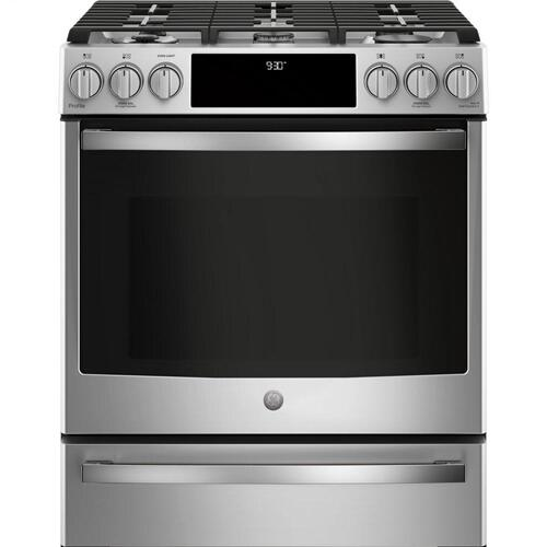 p2s930selss in stainless steel by ge appliances in little falls mn ge profile 30 smart dual fuel slide in front control range design electronics
